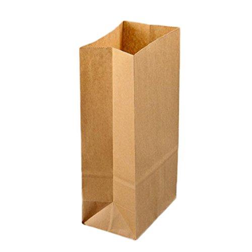 Lumanuby 100x Sacs en Papier Kraft Sac de Nourriture Pochette Sac en Papier Kraft Vintage Petites Papier kraft pour sacs Cadeau Emballage Cadeaux Bonbons Noix Thé Mariage Anniversaire Fete 18x9x5.5cm Marron