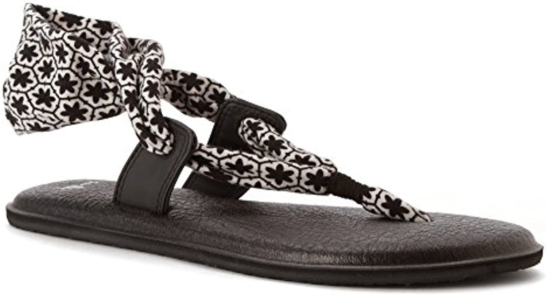 Sanuk - Sanuk Wouomo Sandals - - - Yoga Slinglet Prints - nero bianca - Wouomo 9   Nuovi Prodotti  1caa24