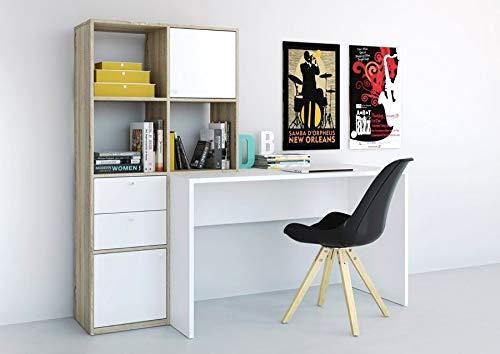 Esidra, Scrivania con libreria, 170x60x151cm