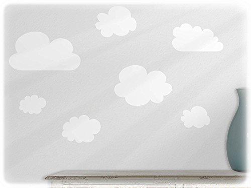 Preisvergleich Produktbild wandfabrik - Wandtattoo - 12 schöne Wolken in weiß