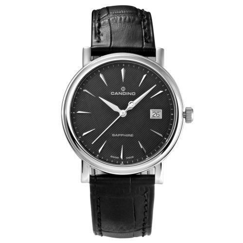 Candino Herren-Armbanduhr Analog leder schwarz C4487/3