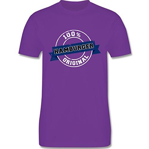 Länder - Hamburger Original - Herren Premium T-Shirt Lila