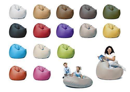 sunnypillow XXXL Sitzsack mit Füllung 145 cm Durchmesser 2-in-1 Funktionen zum Sitzen und Liegen Outdoor & Indoor für Kinder & Erwachsene viele Farben und Größen zur Auswahl Grau