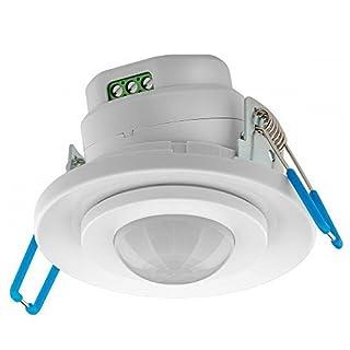 2 Stück Infrarot-Bewegungsmelder; 360 Grad; LED geeignet; zur Unterputz-Deckenmontage; 360° Erfassung, 8 m Reichweite