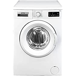 Smeg LBW508CIT freestanding Front-load 5kg 800RPM A+ White washing machine - washing machines (freestanding, Front-load, A+, White, Left, Stainless steel)