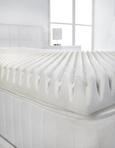 "Littens - 2"" Single Size Memory Foam Mattress Topper (Profile/Egg Shell) 50mm 2"