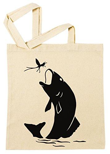Erido Fisch Einkaufstasche Wiederverwendbar Strand Baumwoll Shopping Bag Beach Reusable -