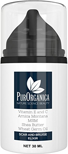 PurOrganica SCAR CREAM - Premium Removal Treatment for Old & New Scars - With Vitamin E and C, Shea Butter - Organic and Natural Cream in 30ML bottle - 100% Satisfaction or Your Money Back Guarantee