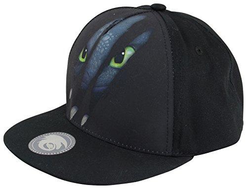 Dragons cappellino per bambini motivo artigli del draghetto Sdentato con snapback colore nero