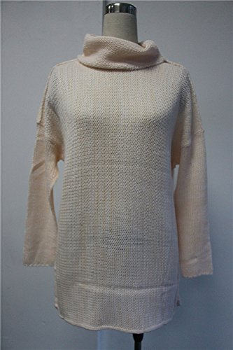 Minetom Donna Casual Oversize Caldo Manica Lunga Collo Alto lungo Maglione Maliga Maglioni Pullover Tops Pink