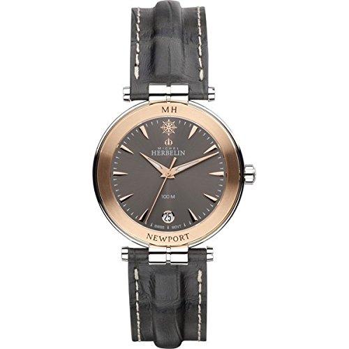 Orologio da uomo–Michel Herbelin–Newport–Cinturino in pelle–12266/TR22GR