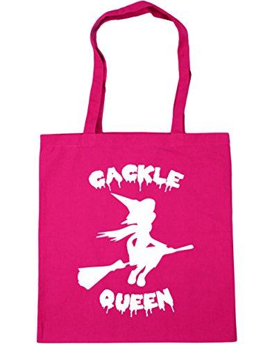 hippowarehouse cackle Queen Halloween Hexe Tote Shopping Gym Beach Bag 42cm 3838, 10Liter Gr. Einheitsgröße, fuchsia