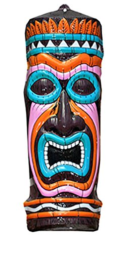 Party Palast - Totem Marterpfahl- Indianer Karnevals Party Dekoration Schild Geometric, 50cm, Mehrfarbig