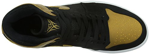 Nike - Air Jordan 1 Retro High, Scarpe sportive Uomo Nero / Oro / Bianco (nero / Metallic Gold-White)