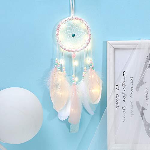 RAILONCH - Atrapasueños, luz Nocturna, lámpara de Muelle para Colgar en la Pared, decoración para el hogar, para niños, bebés, dormitorios, Salones, c, Mit Lichtern