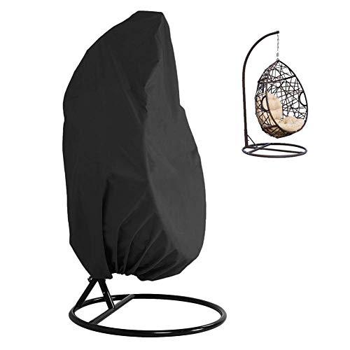 Möbelabdeckung Hängende Stuhlabdeckung, 210D / 420D Oxford-Stoff, wasserdichter Veranda-Patio-Stuhl, Gartenmöbel-Schutzhülle mit elastischen Kordeln am Saum (Color : 420D, Size : 115x190cm) (Veranda, Patio Set)