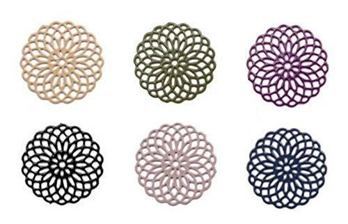 Sadingo Mandala Schmuckverbinder Metall Klein Filigran Dünn - 6 Stück in 6 Farben - 15 mm - Armband selber Machen
