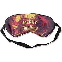 Eye Mask Eyeshade Merry Christmas Decotarion Sleeping Mask Blindfold Eyepatch Adjustable Head Strap preisvergleich bei billige-tabletten.eu
