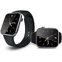 tianjie A9nuevo reloj inteligente Bluetooth IP67resistente al agua Monitor de ritmo cardíaco reloj de pulsera inteligente para smartphone Android y iOS iPhone (negro)