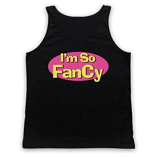 I'm So Fancy Slogan Tank-Top Weste Schwarz