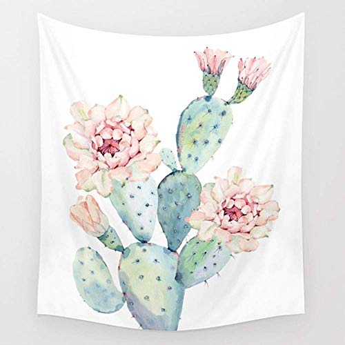 Daawqee The Prettiest Cactus Wall Wandteppiche Hanging Tapestries Wall Art for Living Room Bedroom Dorm Decor 80X60 inches