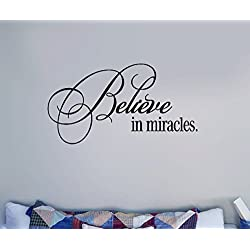 wandaufkleber küche Removable Vinyl Art Decal Believe in Miracles inspiration for office home décor