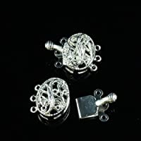 F1653 Pack of 3 Beads4crafts Antique Silver Plated Toggle Clasps 15mm