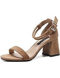 Longra sandali della signora Boemia (EU Size:42, Rosso)