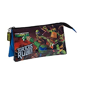 Tortugas Ninja Neceser de Viaje, 1.32 litros, Color Azul