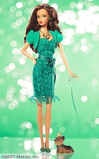 Mattel L7576 Barbie Birthstone Beauties Collection May Miss Emerald -