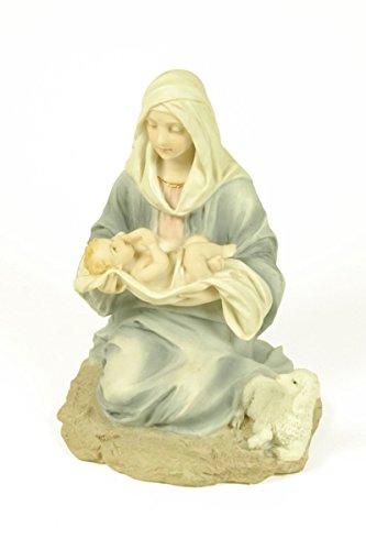 Figura Decorativa Religiosa 'Virgen María con Niño en Brazos' Figuras Color. 13 x 11 x 15 cm.