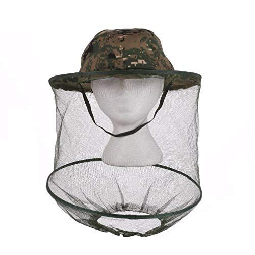 JOMSK Anti Moskito Cap, Camouflage Head Net Hut, Imker Hut, Angeln Hut, Bee Bug Insektenmaske Gesichtsschutz für Outdoor Angeln Garten, 2 * -