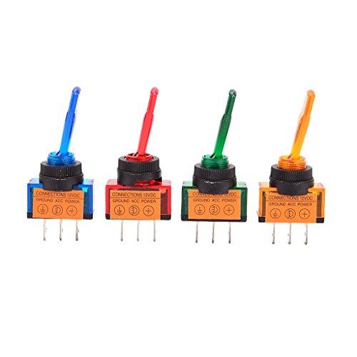 Descripción:       3 pernos con la lámpara de LED, encendido / apagado [SPST]  La lámpara fluorescente 's Wil trun en EHRN que TruM en el swith  El interruptor viene con una ranura de la llave para evitar la rotación no deseada, lámpara fluor...