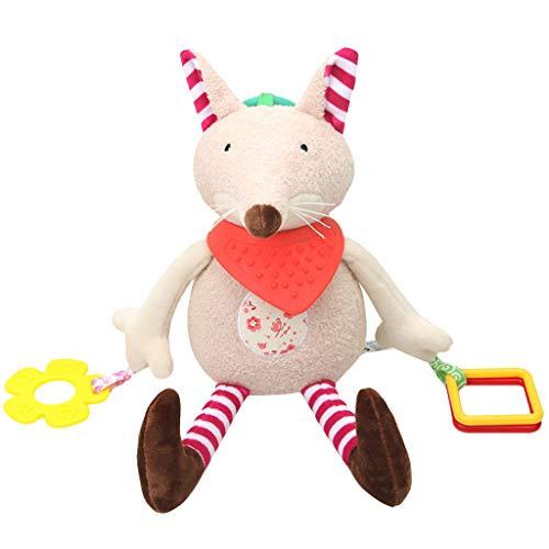 Mitlfuny Kinder Erwachsene Entwicklung Lernspielzeug Bildung Spielzeug Gute Geschenke,Baby Rasseln Plüsch mit Beißring niedlichen Tier hängen Bell Spiel Spielzeug ()