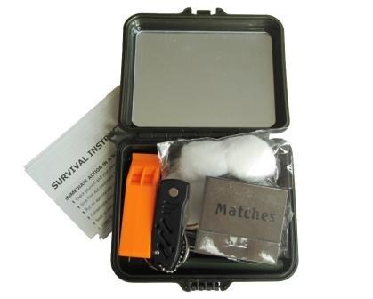 Kit de survie militaire Mil-tec (Trousse en plastique)
