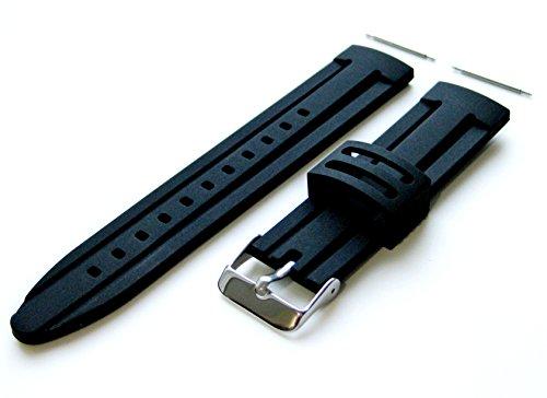 26mm - 4 Stück Gummi Ersatzband Armband Set für Luxus, Sport und Beiläufige Armbanduhren (B-RASDMD)
