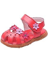 Sandalias de Bebé SUNNSEAN Verano Infantil Bebé Niña Bowknot Cuna Zapatos Zapatos únicos Antideslizantes de Suela Blanda Sandalias Zapatilla Sneaker Niñas Zapatos Primeros Pasos niña