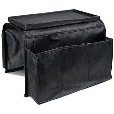 firstwish sofá sofá apoyabrazos organizador de almacenamiento organizador de bolsillo, mando a distancia para TV, mesa armario almacenamiento organizador para iPad, mando a distancia, controlador de juego, periódico, libro, revistero, color