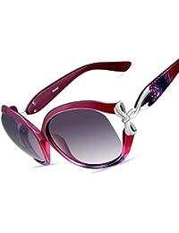 5c1c665f13b VEGOOS Oversized Sunglasses for Women Polarized UV400 Protection Large PC  Frame with Bow Design Fashion Ladies