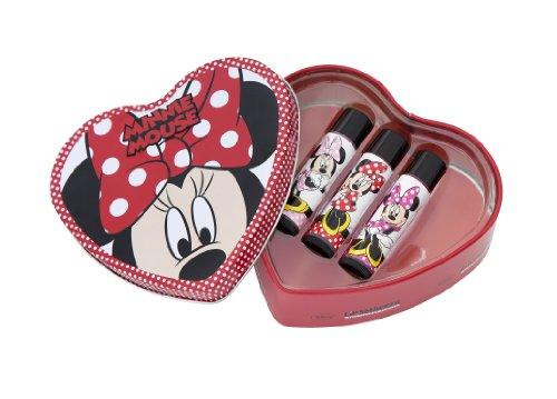 Lip Smacker Boîte Cœur Disney Minnie 3 Baumes