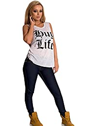 IKRUSH WOMENS GIRLS NEW ONLINE CHEAP FASHION SKINNY STYLE DARK BLUE ZIP DETAIL JEANS SIZE 6 8 10 12 14