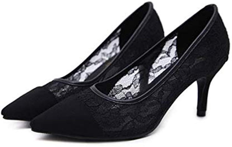 donna Retro High Heels Lace Scarpe con Tacco Medio, Scarpe Casual per Ufficio | Bella E Affascinante  | Uomo/Donne Scarpa