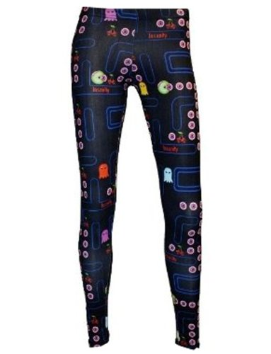 Ladies Zombie Pac Man Cherry Skull Print Leggings