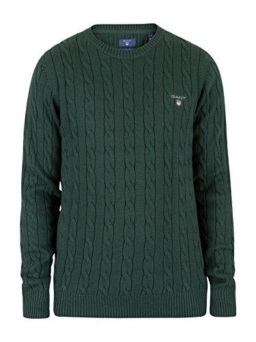 Gant Uomo Cable Knit, Verde Verde