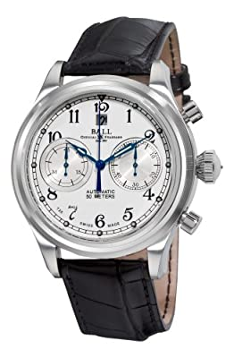 Ball Trainmaster Cannonball Automatic Watch, Ball RR1401, White Chronograph