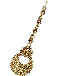 Jewels Gold Imitation Gold Plated Traditional Stylish Funky Maangtikka For Women & Girls