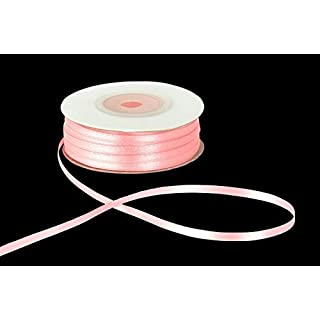 3mm x 50m Pink Double Sided Satin Ribbon