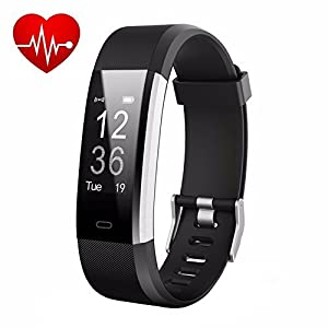 41d4GWsAdhL. SS300  - LETUFIT PLUS Fitness Tracker + Heart Rate Monitor,IP67 Waterproof Smart Wristband With Pedometer Watch for Android and…