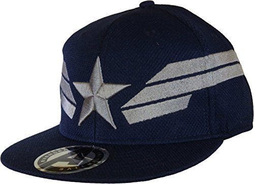 Captain America Silver Star & Stripes Snapback-Cap (America Hüte Captain)