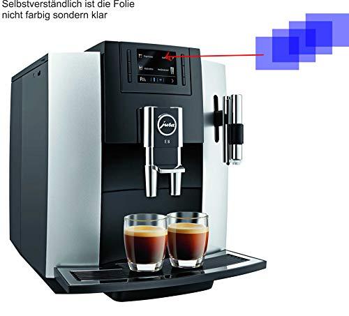 4X Crystal Clear klar Schutzfolie für Jura 15084 E8 Kaffeevollautomat Displayschutzfolie Bildschirmschutzfolie Schutzhülle Displayschutz Displayfolie Folie